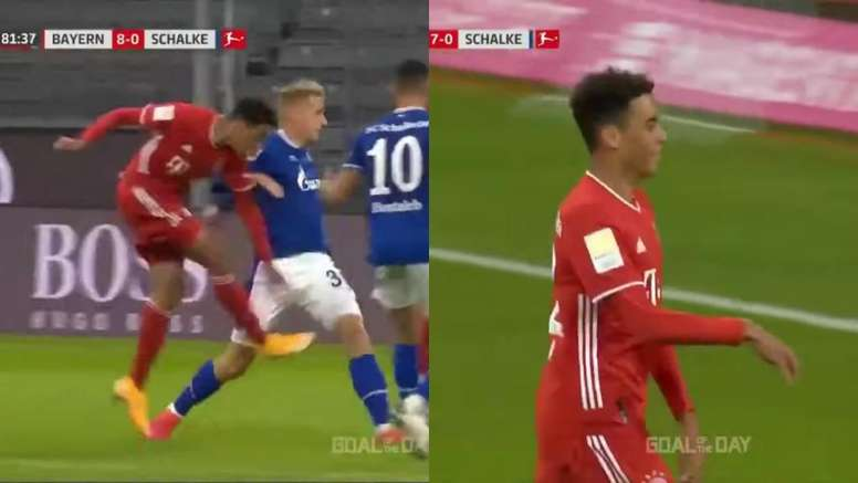 Musiala ya es historia del Bayern. Captura/MovistarLigaDeCampeones
