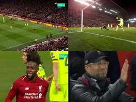 O Barça cochila e acorda com o milagre de Anfield. Captura/Movistar