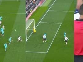 El gol de Paulista no subió al marcador. Captura/Movistar