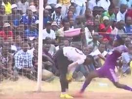 En Tanzania, el gol más pillo. Twitter