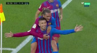 Piqué segna il primo gol stagionale. MovistarLaLiga