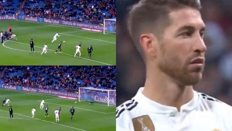 Ramos marcou de pênalti. Captura/BeIN