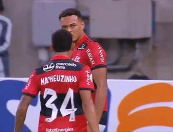 Flamengo venció 2-0 ante América Mineiro. Captura/SporTV