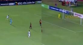 Rodrygo anotó su primer gol de falta. Twitter/Sampaolismo
