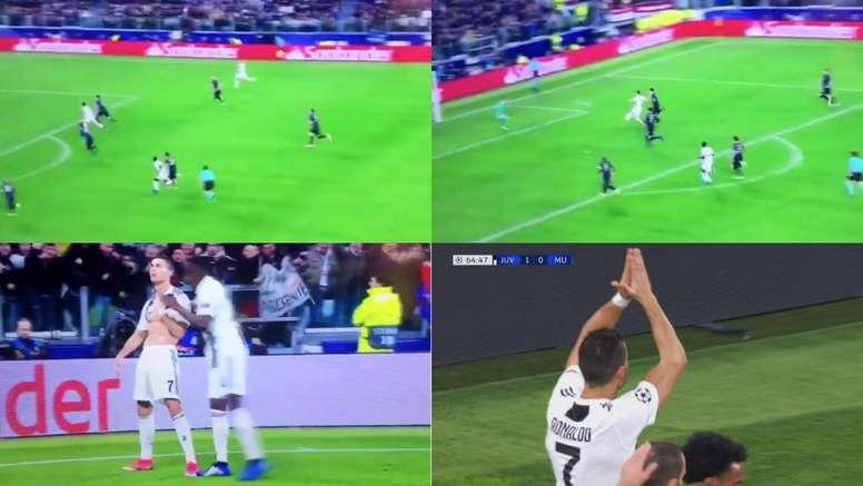 Le but de Ronaldo. Capture/Movistar
