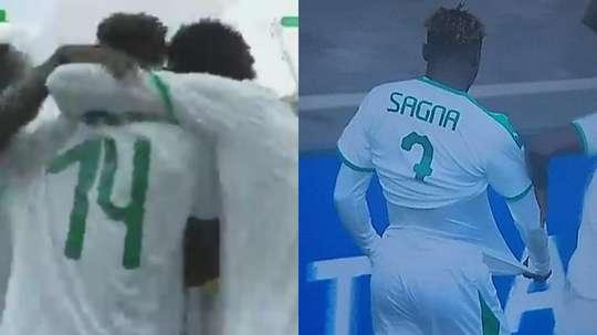 Sagna marque le premier but du mondial U20 en neuf secondes. Capture/DirectTV