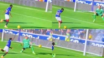 Sakala levelled for Rangers versus Real Madrid. Screenshot/RealMadridTV