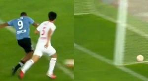 Salomón Rondón metió gol. Captura/CCTV