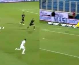 Flocarri marcó un golazo. Capturas/beINSports