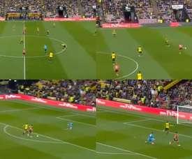 Long logró el gol más rápido en la historia de la Premier. Captura/Movistar