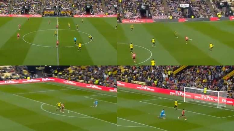 Long marcou o golo mais rápido da Premier League. Captura/Movistar