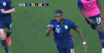 Estados Unidos venció 1-0 a Honduras. Captura/CONCACAFNationsLeague