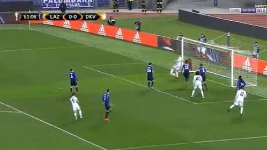 El Dinamo se adelantó con un gol de tacón. Captura/BeInSports