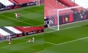 United went down 1-0. Screenshots/DAZN