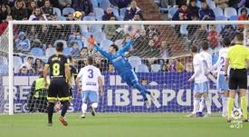 El meta del cuadro maño analizó el choque ante el Granada. LaLiga