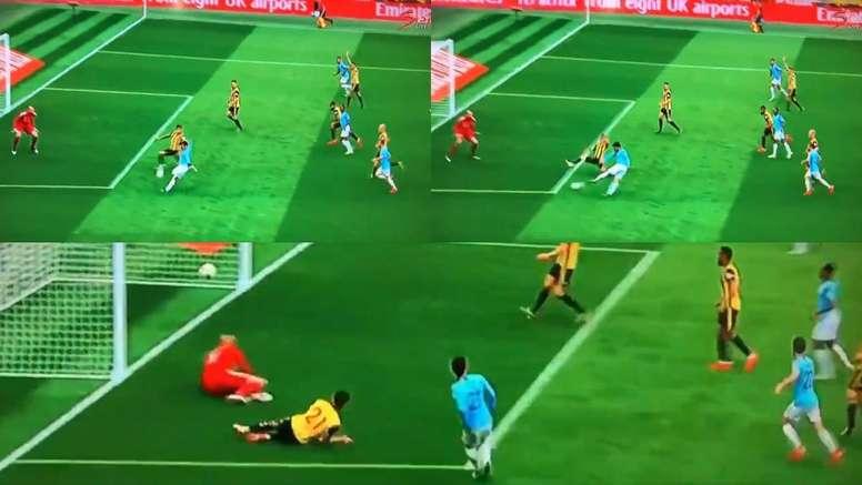 David Silva abriu o marcador para o City. Capturas