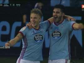 Wass celebra o gol que apontou ao Real. Captura/ESPN