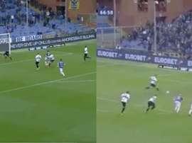Del gol de Zapata al empate de Quagliarella: duelo por el 'Capocannoniere'. Capturas/ElevenSports