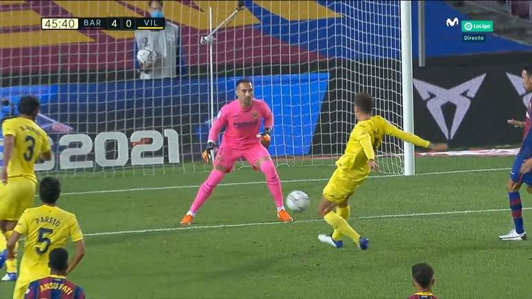 No le hacía falta al Barça, pero Pau le regaló el cuarto. Captura/MovistarLaLiga