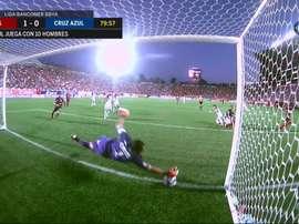 El gol concedido a Tijuana. Twitter/FOXDeportes