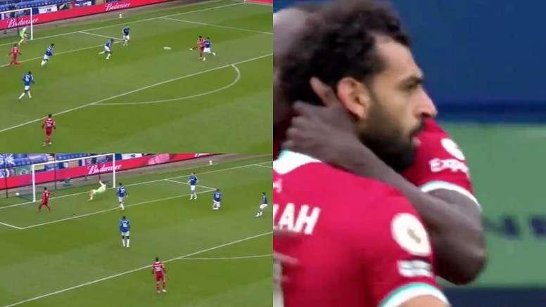 Salah marcó su gol 100 con el Liverpool. Capturas/DAZN