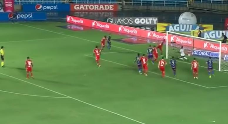 Deportivo Pasto anotó un gol olímpico. Captura/RCN