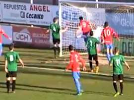 Polémica con un gol en Tercera. Captura