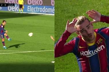 Griezmann segna il gol del raddoppio. Movistar+LaLiga
