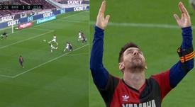L'esultanza di Messi per Maradona. Movistar+LaLiga