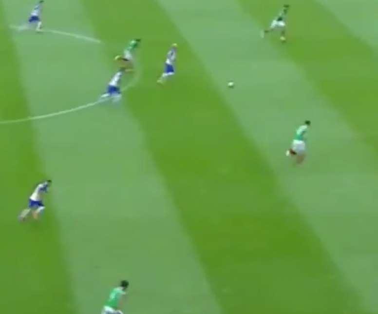 Momento del gol de Bradley en el partido ante México. Televisa