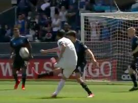 El 'show' de Vela: tres goles y una asistencia para un 0-5. Captura/LAFC
