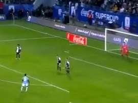 Cataldi's free-kick saw Lazio win the Italian Super Cup final 3-1. Capturas/DAZN