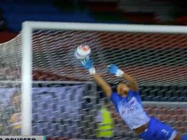 Emocionante partido entre el América y Bucaramanga. Captura/WinSports