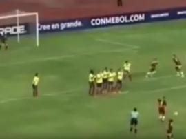 Espectacular tanto de la jugadora venezolana. EFE