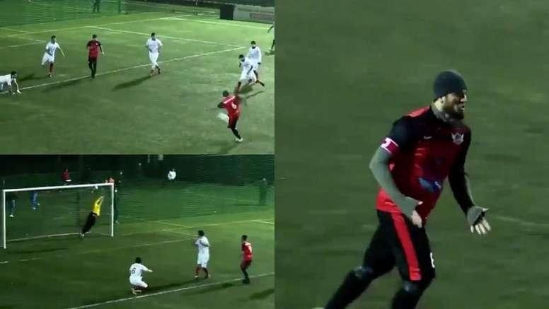 Khabib marcó un golazo. Capturas/433