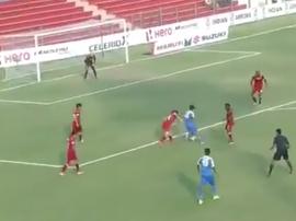 Espectacular golazo en la Superliga India. Captura