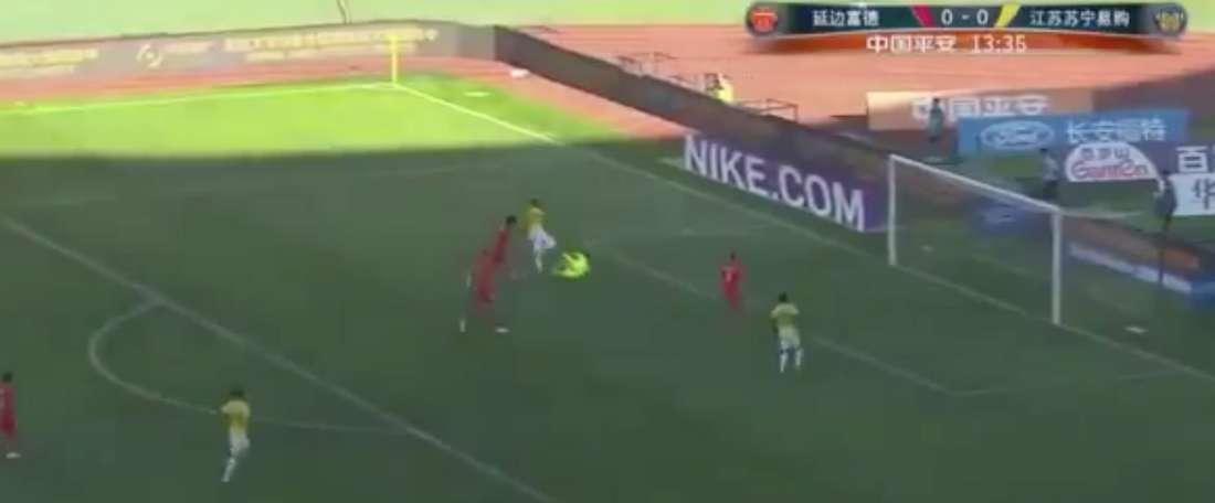 Golo espetacular do atacante colombiano. Twitter