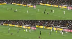 Vela se vistió de Maradona y anotó uno de los goles del año. Capturas/LAFC