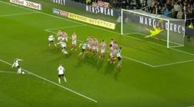 Rooney marcó por la escuadra. Capturas/RamsTV