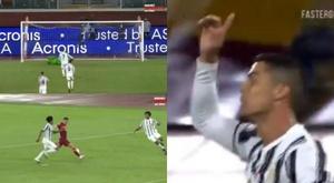 Ronaldo scored a penalty. Screenshot/BandSports