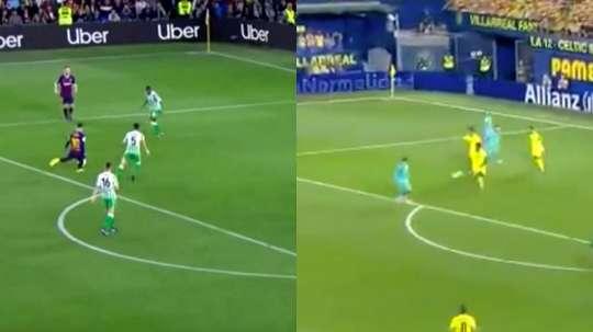 Il goal di Griezmann contro il Villarreal. Movistar