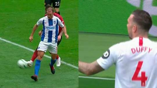 El Brighton anotó dos goles en dos minutos. Twitter/casadelfutbol