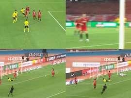 Le doublé de Paulinho. Capture/CCTV