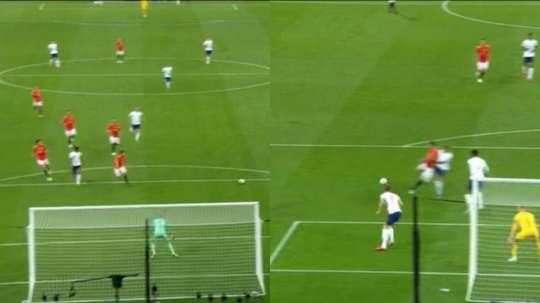 Rashford et Saul ont marqué les premiers buts. Capture/DirectTV Sports