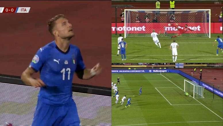 Immobile, Pukki y Jorginho anotaron en el partido. Capturas/UEFA
