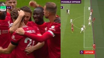 El Liverpool volvió a vibrar con Anfield ante el Burnley. Captura/DAZN