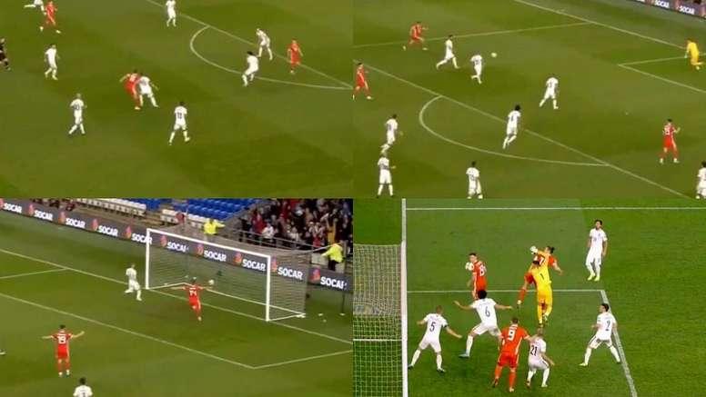 Après le Real, Bale sauve le Pays de Galles. Captures/SkyGo