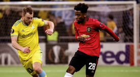 Man Utd's kids were outclassed in the second half by Kazakh champions Astana. Twitter/ManUtd