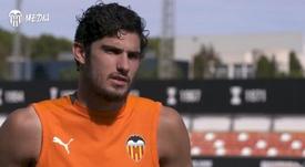 Guedes analizó el Valencia-Getafe. Captura/VCFMedia