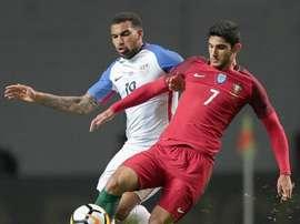Portugal e Estados Unidos empataram, a 1-1, nesta terça-feira. Twitter/U.S.Soccer